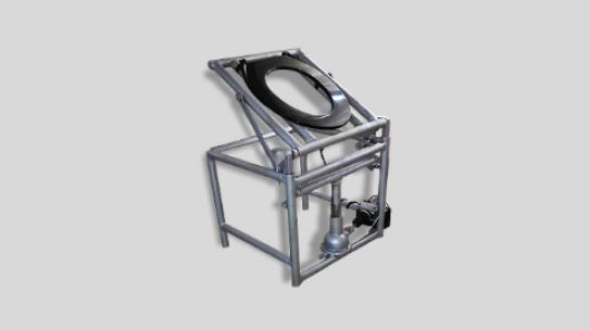 Automatic toilet seat commode raiser for elderly patients: